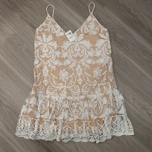NWT Charlotte Russe White Lace Dress